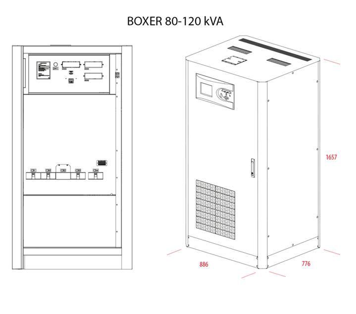 MAKELSAN BOXER 80 KVA - 100 KVA - 120 KVA 3 FAZ / 3 FAZ KESİNTİSİZ GÜÇ KAYNAĞI