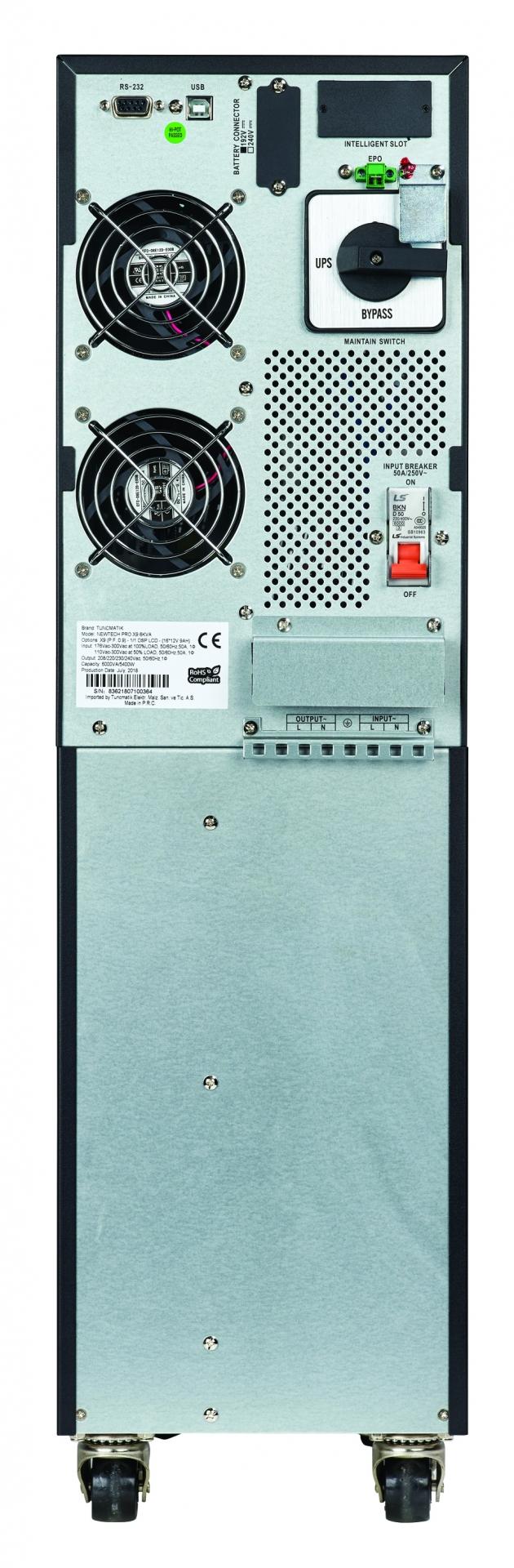 Tunçmatik Newtech Pro X9 6 kVA 1f/1f Kesintisiz Güç Kaynağı (UPS)